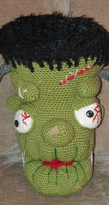cottontail whiskers crochet frankenstein head crafters review by Rhona Day
